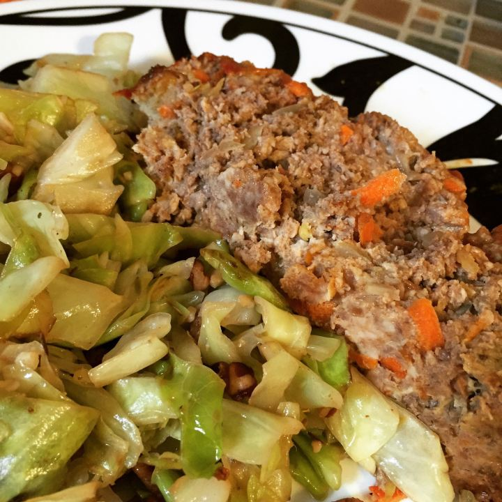 Shown with fried cabbage and pecans. To make: fry cabbage. Add pecans :)
